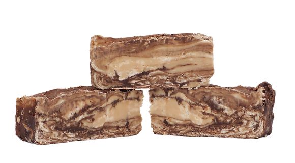 Vegan Chocolate Caramel Fudge