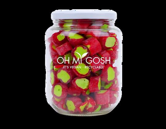 Vegan Rhubarb Rock Gift Jar