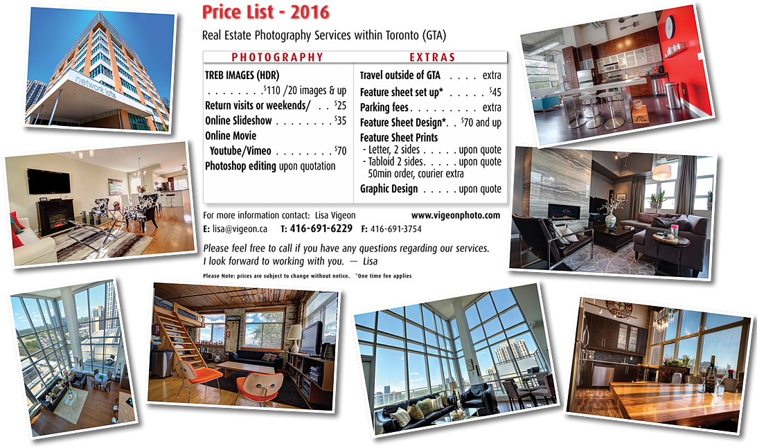 Interior Design Price List With