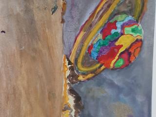 Выставка работ изостудии «Акварелька» ко Дню космонавтики