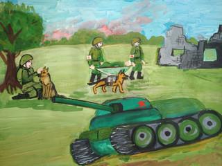 Выставка работ Народной ИЗОстудии «Вернисаж» — «Лики войны». Часть 3