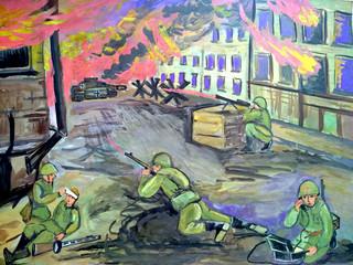 Выставка работ Народной ИЗОстудии «Вернисаж» — «Лики войны». Часть 1