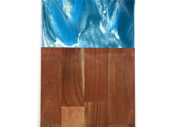 Blue & White Ocean Chopping Board