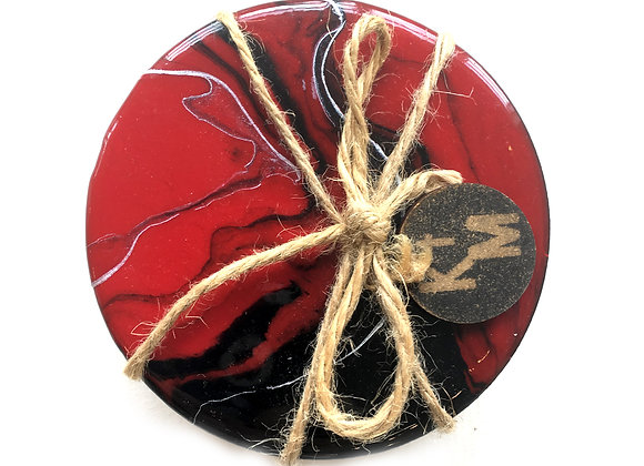 Red & Black Coaster Set