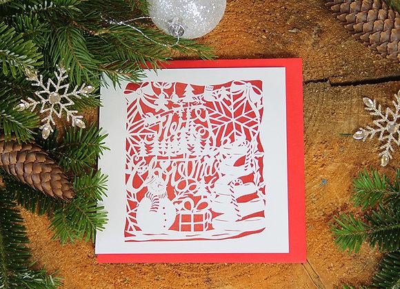 x10 Merry Christmas Papercut