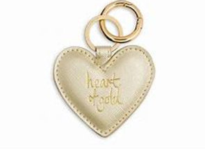 Heart Keyring - Heart of Gold