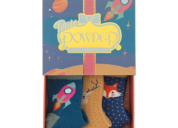 Baby Sock Gift Box - Space