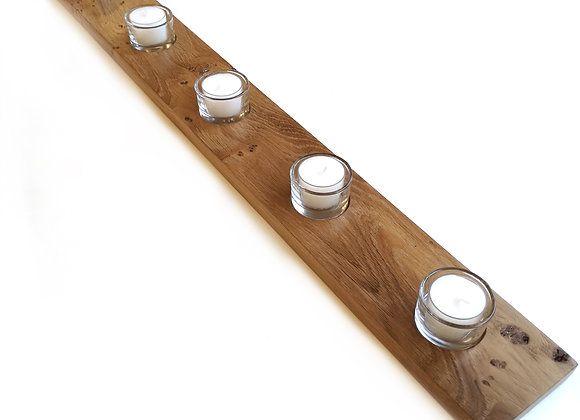 Wooden Five Tealight Holder