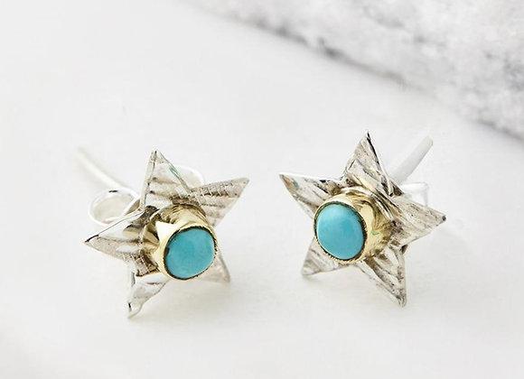 Sitara Star Studs - Turquoise