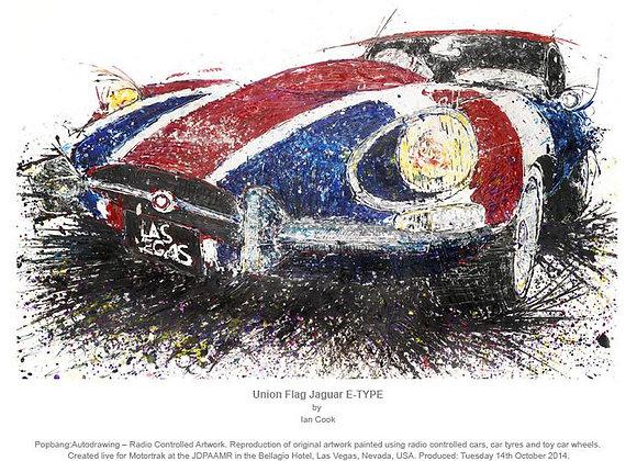 Union Flag Jaguar E-Type