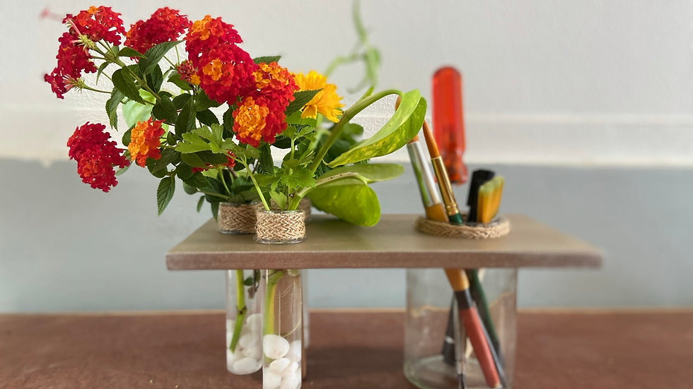 Recycled Pen stand planter