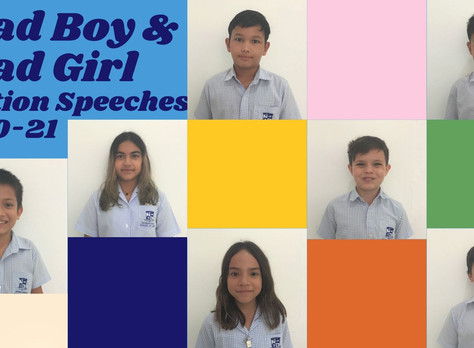 Primary Head Boy and Girl Speeches