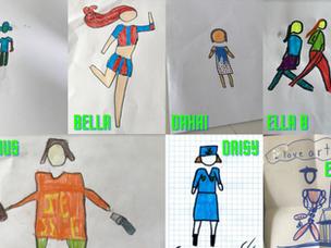 La classe de Y4 continue de perfectionner leurs compétences artistiques à la maison.