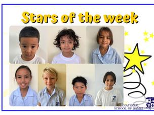 18 Juin 2021 - Primaire: Stars de la semaine