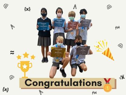 Kangaroo Maths Winners Receive Awards