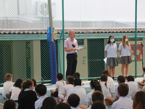 ISS Students Commemorate Remembrance Day