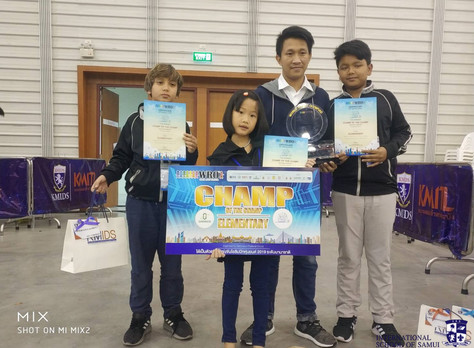 """ISS Students are National Robotics """"Champs of Champs"""""""