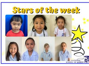 3 September 2021 - Primary Stars of the Week