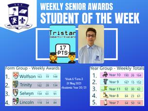 31 พฤษภาคม 2021: Weekly Senior Awards