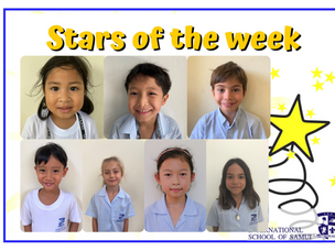 2 April 2021 - Primary Stars of the Week