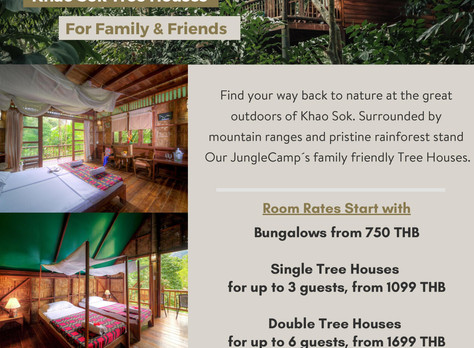 ISS families are welcome at Khao Sok Eco Resort