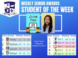 24 พฤษภาคม 2021: Weekly Senior Awards