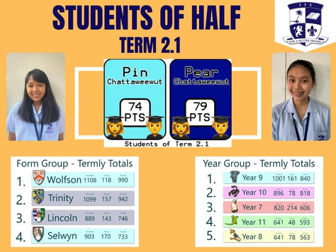 ISS Senior School - Students of Half Term 2.2