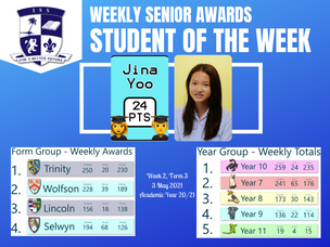 3 May 2021: Weekly Senior Awards