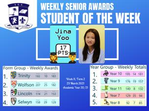 29 March 2021: Weekly Senior Awards