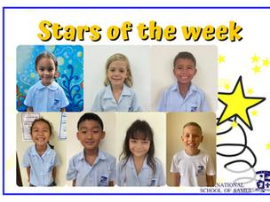 10 September 2021 - Primary Stars of the Week