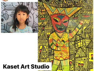 Year 2 Students Mali and Anabelle Show Their Art Skill