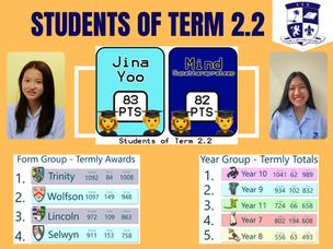 ISS Senior School - Students of Term 2.2
