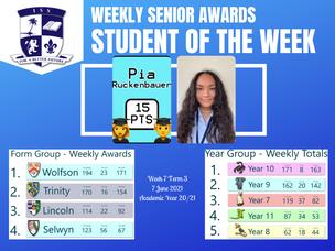 7 มิถุนายน 2021: Weekly Senior Awards