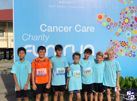 ISS Students joined a Cancer Care Charity Run