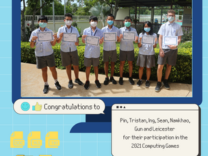 Congratulations To ISS Senior School Students For Their Participation In The 2021 Computing Games