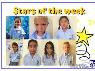 17 September 2021 - Primary Stars of the Week