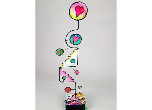 Circles Of Love, wire sculpture by JP, wire art by James Paterson