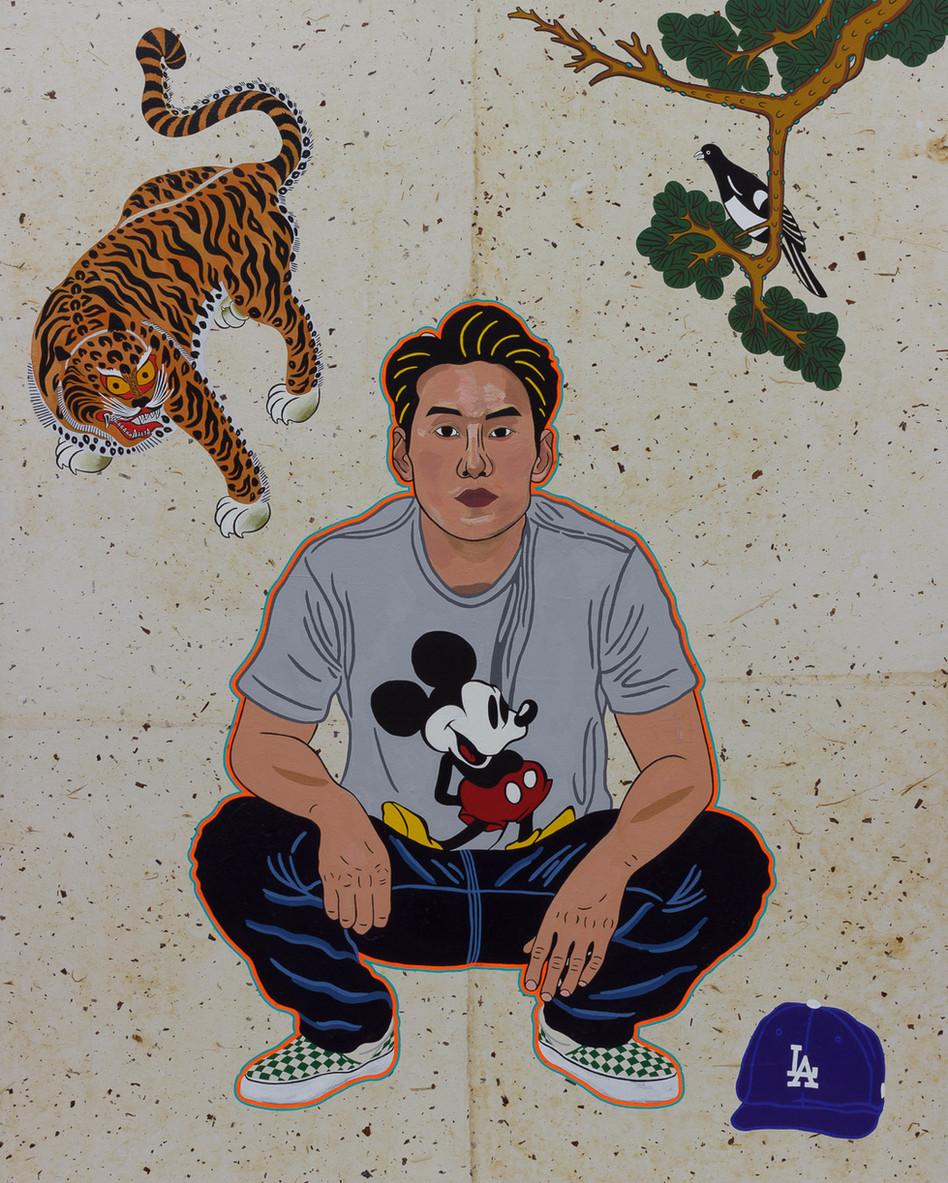 Gyopo Kimchi Squat (Self Portrait)
