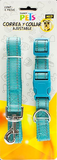 Correa/Collar de Nylon con Bandas Reflejantes