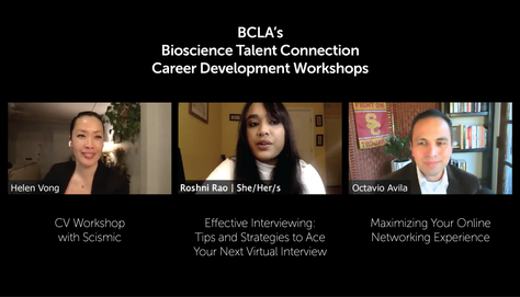 BCLA's Bioscience Talent Connection: Career Development Workshops