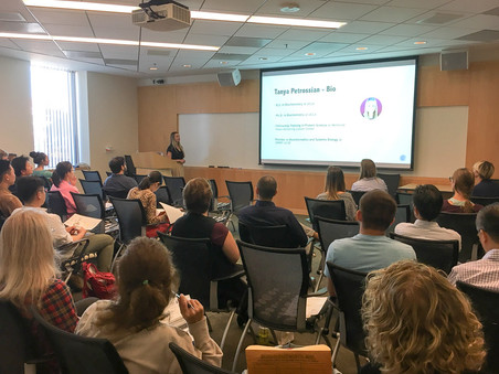 Tanya Petrossian shared her experiences of transitioning from academia to the industry at BEC Semina