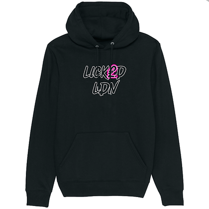 LICK£D LDN Pink X White Pullover Hoodie