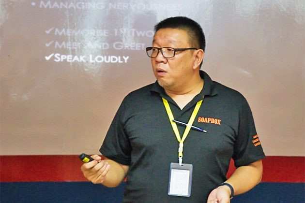 Talk aims to allay public speaking jitters