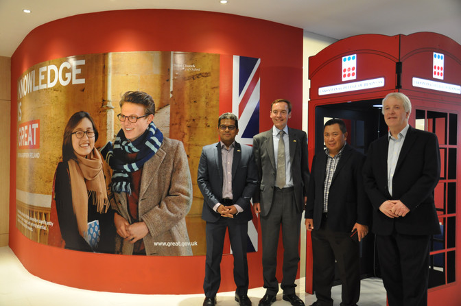British High Commissioner unveils GREAT Branding Wall at Laksamana College of Business.