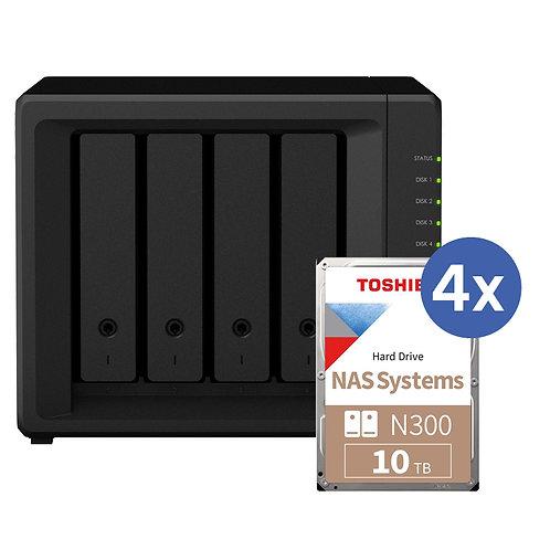 Synology DS918+ inkl. 4x 10TB Toshiba N300