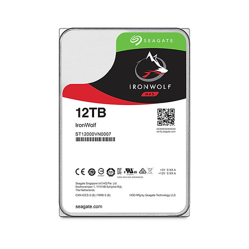 Seagate IronWolf NAS HDD - 12TB