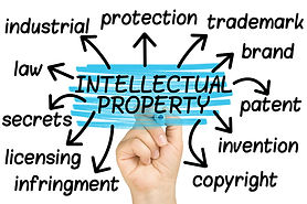 hand highlighting intellectual property