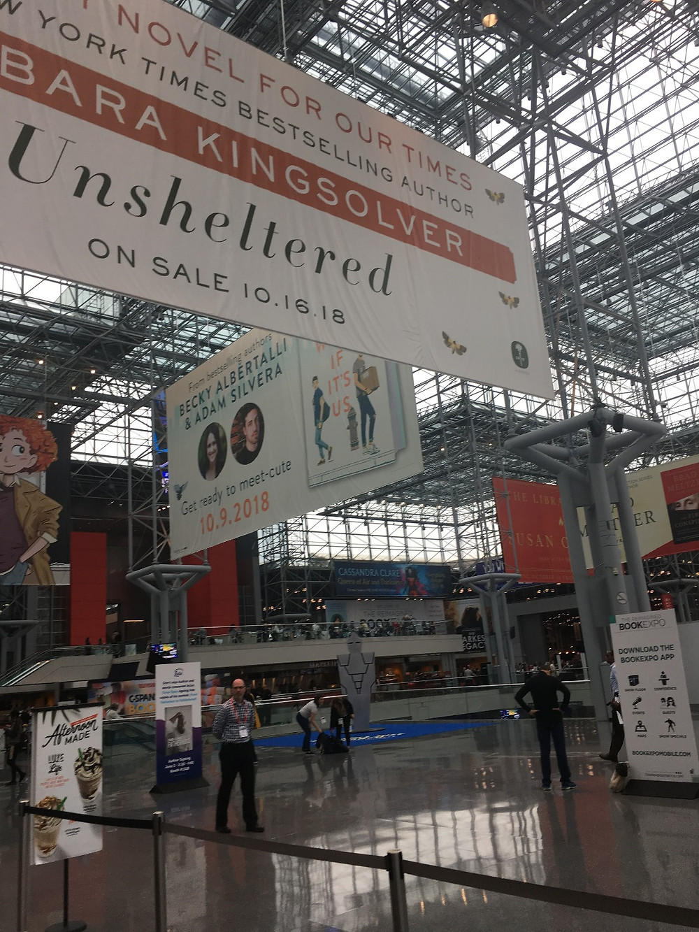 The entrance to the exhibit hall at Book Expo