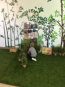 Child in a K-classroom
