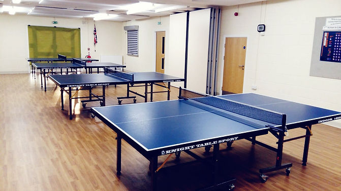 Table tennis players at Kirton in Lindsey Table Tennis Club.